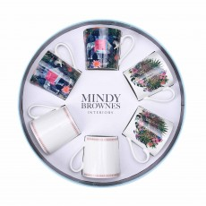 Mindy Brownes Jungle Frenzie Mugs (Set of 6) Multi-Coloured