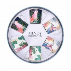 Mindy Brownes Tropical Mugs (Set of 6) Multi-Coloured