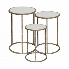 Mindy Brownes Marble Top Nest of Tables (Set of 3)