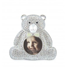 Tipperary Crystal Diamante Bear Baby Photo Frame