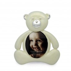 Tipperary Crystal White Bear Baby Photo Frame