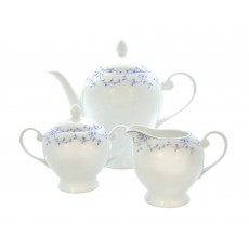 Tipperary Crystal Blue Leaf Collection 3 Piece Tea Set
