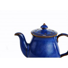 Denby Imperial Blue Teapot Pepper Pot