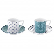 Ted Baker Ancona II Set of 2 Espresso Cup & Saucer