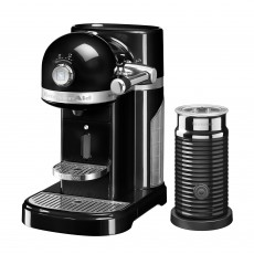 KitchenAid Nespresso Artisan Onyx Black Coffee Machine With Aerocinno