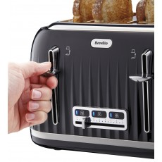 Breville Impressions Collection Black 4 Slice Toaster