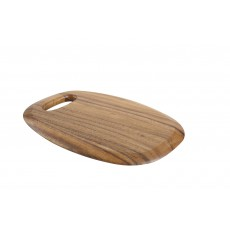 T&G Tuscany Acacia Wooden Small Surfboard Chopping Board With Finger Grooves