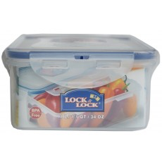 Lock & Lock Rectangular 1L Plastic Storage Container