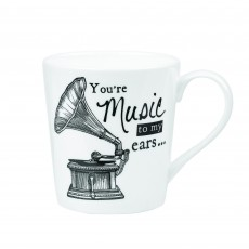 Churchill About Time Gramophone Mug