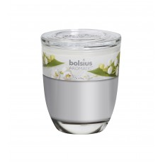 Bolsius Aromatic 12cm Lily Of The Valley Glass Filled Tumbler