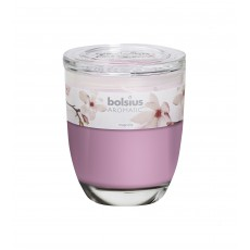 Bolsius Aromatic 12cm Magnolia Glass Filled Tumbler