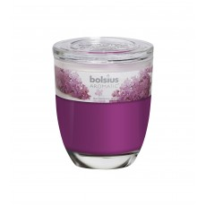 Bolsius Aromatic 12cm Lilac Glass Filled Tumbler