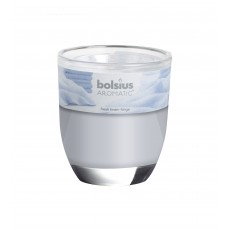 Bolsius Aromatic 12cm Fresh Linen Glass Filled Tumbler