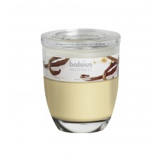 Bolsius Aromatic 12cm Vanilla Glass Filled Tumbler