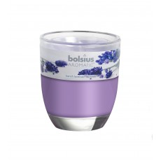 Bolsius Aromatic 12cm French Lavender Glass Filled Tumbler