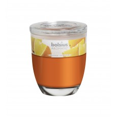 Bolsius Aromatic 12cm Juicy Orange Glass Filled Tumbler