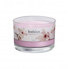 Bolsius Aromatic 6cm Magnolia Glass Filled Tumbler
