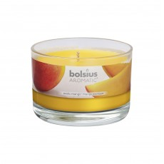 Bolsius Aromatic 6cm Exotic Mango Glass Filled Tumbler
