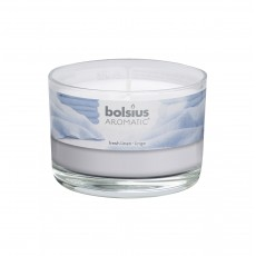 Bolsius Aromatic 6cm Fresh Linen Glass Filled Tumbler