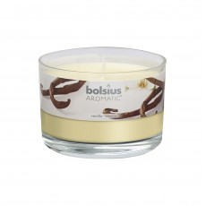 Bolsius Aromatic 6cm Vanilla Glass Filled Tumbler