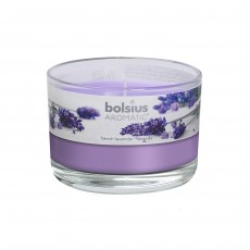 Bolsius Aromatic 6cm French Lavender Glass Filled Tumbler