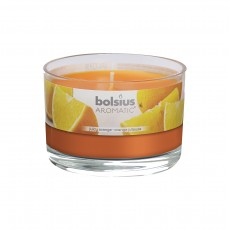 Bolsius Aromatic 6cm Juicy Orange Glass Filled Tumbler