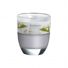 Bolsius Aromatic 8cm Lily Of The Valley Glass Filled Tumbler