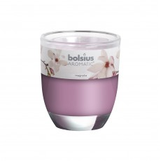 Bolsius Aromatic 8cm Magnolia Glass Filled Tumbler