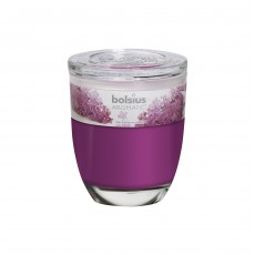 Bolsius Aromatic 8cm Lilac Glass Filled Tumbler