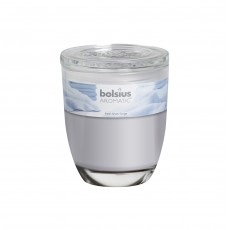 Bolsius Aromatic 8cm Fresh Linen Glass Filled Tumbler