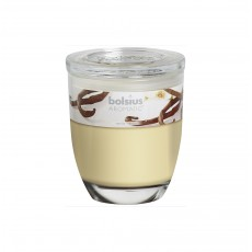 Bolsius Aromatic 8cm Vanilla Glass Filled Tumbler