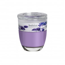 Bolsius Aromatic 8cm French Lavender Glass Filled Tumbler