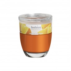 Bolsius Aromatic 8cm Juicy Orange Glass Filled Tumbler