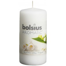 Bolsius Aromatic 12cm Lily Of The Valley Pillar Candle