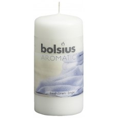 Bolsius Aromatic 12cm Fresh Linen Pillar Candle