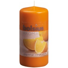 Bolsius Aromatic 12cm Juicy Orange Pillar Candle