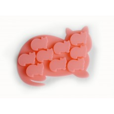 Eddingtons Red Cat Shaped Silicone Ice Cube Tray