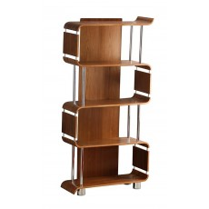 Curve Office Walnut Bookcase