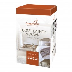 Snuggledown Goose Feather & Down Double Duvet 10.5 Tog