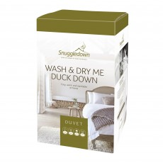 Snuggledown Wash & Dry Me Duck Down Double Duvet 10.5 Tog