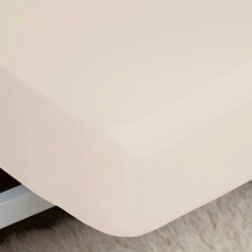"Belledorm 200 Thread Count Fitted Sheet (11"") Cream"
