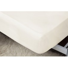 "Belledorm 1000 Thread Count Egyptian Cotton King Fitted Sheet (15"") White"