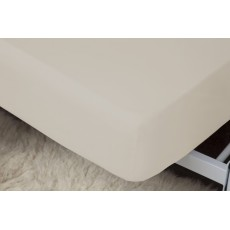 "Belledorm 1000 Thread Count Egyptian Cotton Single Fitted Sheet (15"") Oyster"