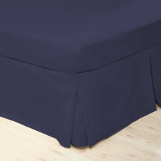 Belledorm 200 Thread Count Super King Valance Navy