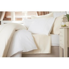 Belledorm 600 Thread Count Sateen Super King Duvet Cover White