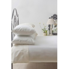 Belledorm Hotel Stripe Single Duvet Set Ivory