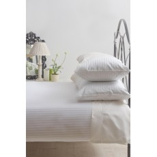 Belledorm Hotel Stripe Single Duvet Set White