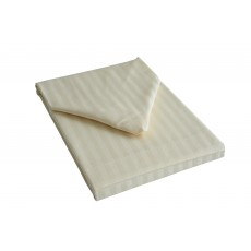 Belledorm Hotel Stripe Double Flat Sheet Ivory