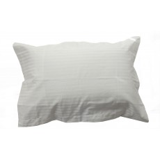 Belledorm Hotel Stripe Oxford Pillowcase White