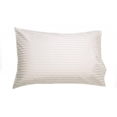 Belledorm Hotel Stripe Pillowcase Ivory